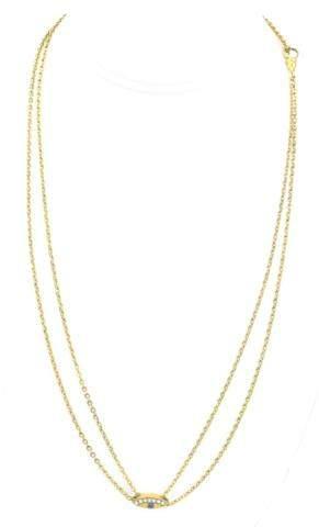 Antique 19th C Necklace Chain w Slide & Dog Clip