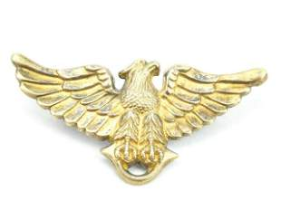 Antique Gold Filled Eagle w Spread Wings Brooch