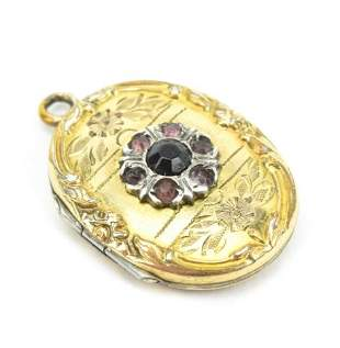 Antique Gold Filled Floral Motif Locket Pendant