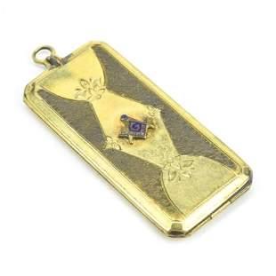 Antique Masonic Gold Filled & Enamel Locket