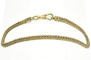 Antique 19th C Curb Link Watch Chain w Dog Clip