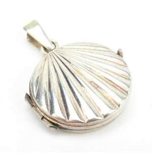 Sterling Silver Art Deco Style Locket Pendant