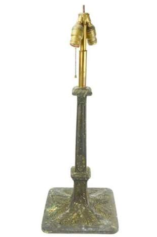 Antique Arts & Crafts Patinated Bronze Table Lamp