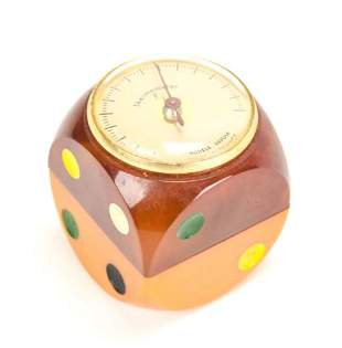 Vintage French Bakelite Dice Thermometer