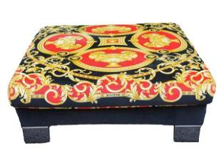 Versace Jaipur Upholstered Ottoman or Poof