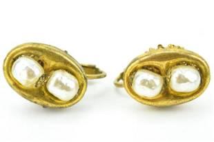 Vintage Costume Jewelry Miriam Haskell Earrings