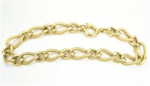 Antique Ornate Link Gold Filled Bracelet