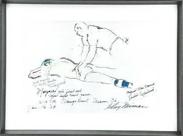 LeRoy Neiman Original Drawing of Donald  Maynard.