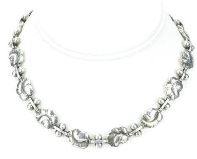 Estate Georg Jensen Sterling Silver Panel Necklace