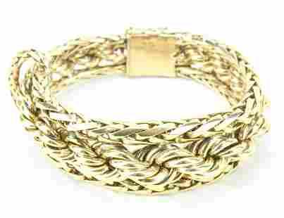 Impressive Estate 60 Gram 14kt Gold Bracelet