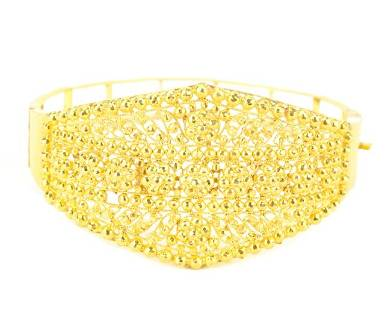 Estate Indian 14k Gold or Higher Filigree Bracelet
