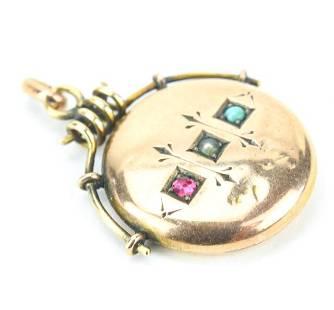 Antique 19th C 14kt Gold Necklace Pendant