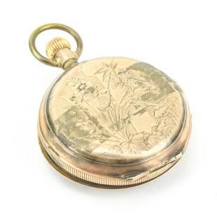 Antique L Reymond Locle 14K Gold Pocket Watch