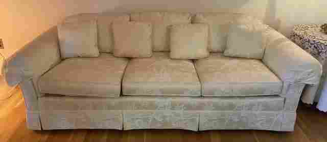 Drexel Heritage Damask Upholstered Sofa