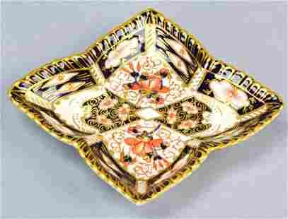 Antique English Royal Crown Derby Imari Dish
