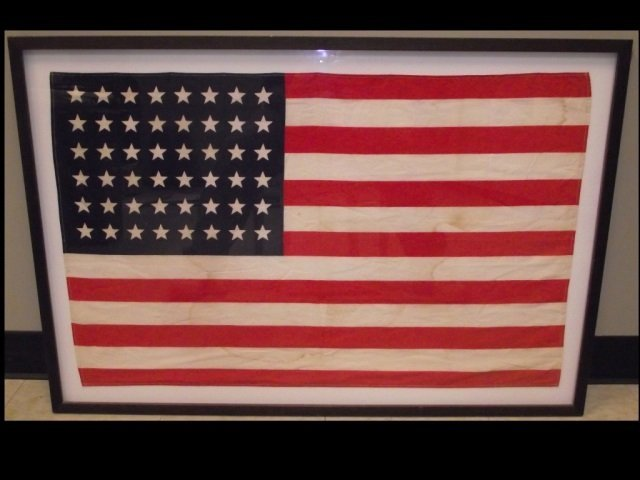 Vintage 48 Star American Flag- Framed