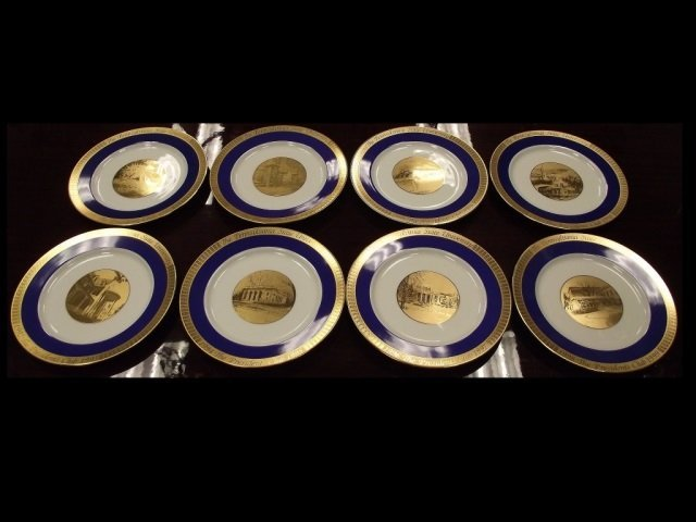 Set of Eight Penn State President's Club Plates