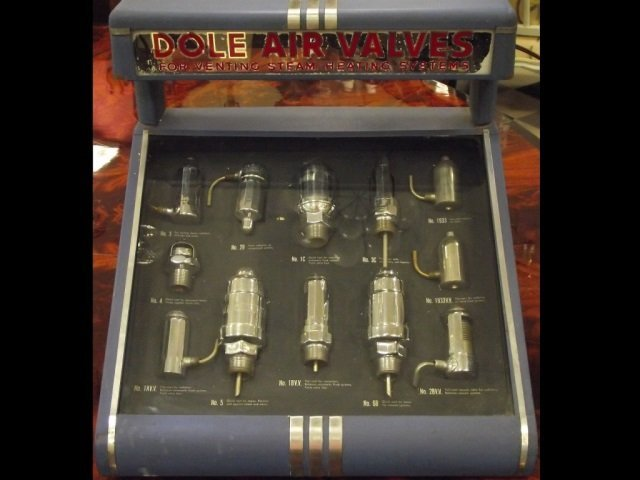 Complete Set of 11 Dole Air Valves w/Display Box