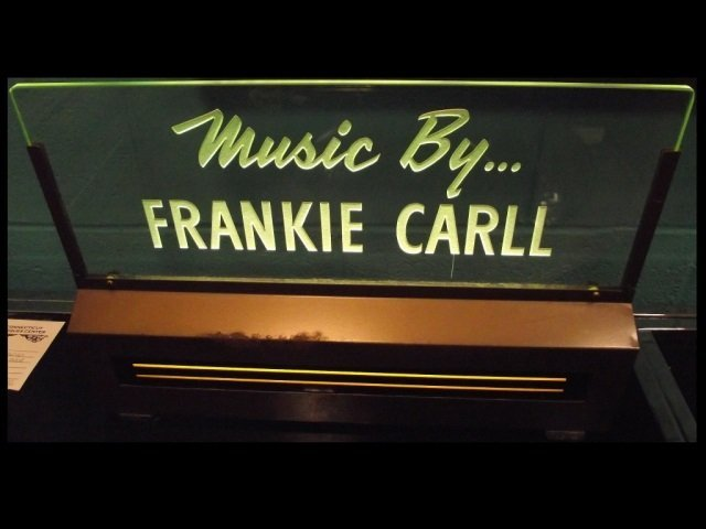 Frankie Carll Music Performance Display Sign