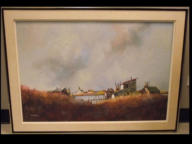 Philip Burnham Hicken Landscape w/Brush-Oil/Canvas
