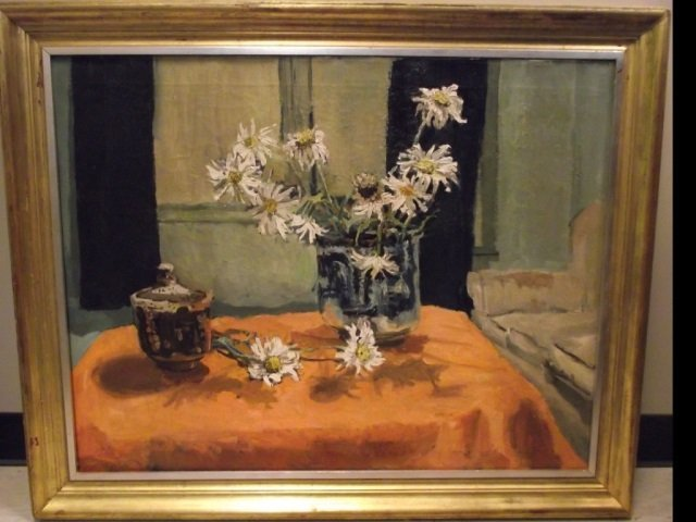 Pauline Palmer Still Life with Flowers- Oil/Canvas