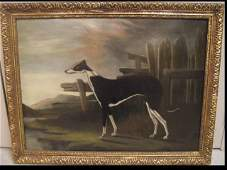 Portrait of English Pointer- Oil on Canvas