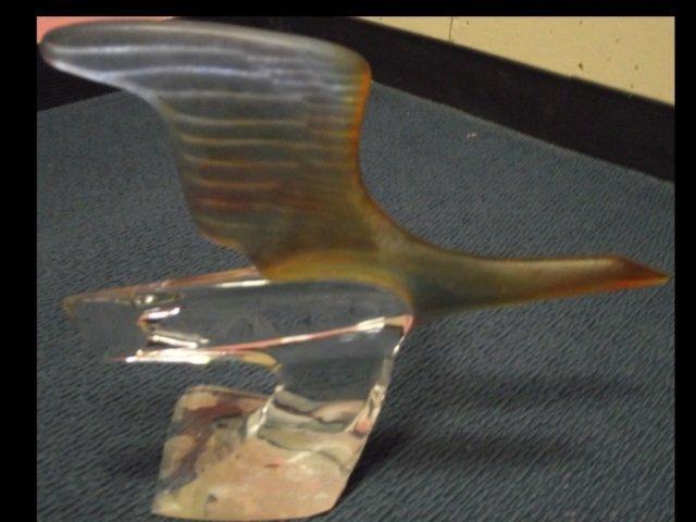 Daum French Crystal Bird Sculpture