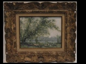 Andre Gisson Impressionist Oil on Canvas