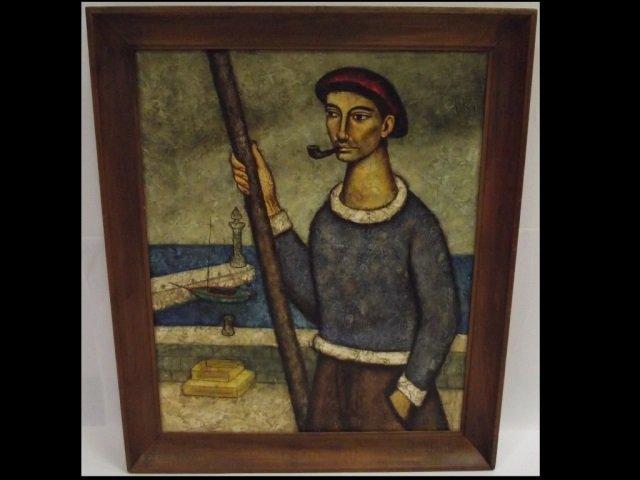 Portrait of Spanish Sailor- Velez- Oil/Canvas