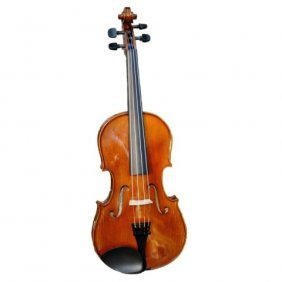 Antique Full-Sized French Guitar-Shaped Violin