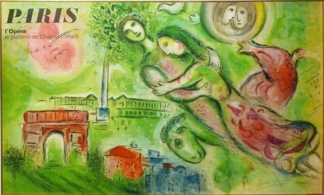 """Marc Chagall- Paris"""" Color Lithograph"""""""