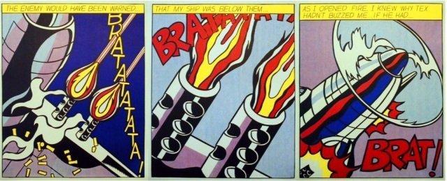 Roy Lichtenstein- As I Opened Fire (3-Panel Print)