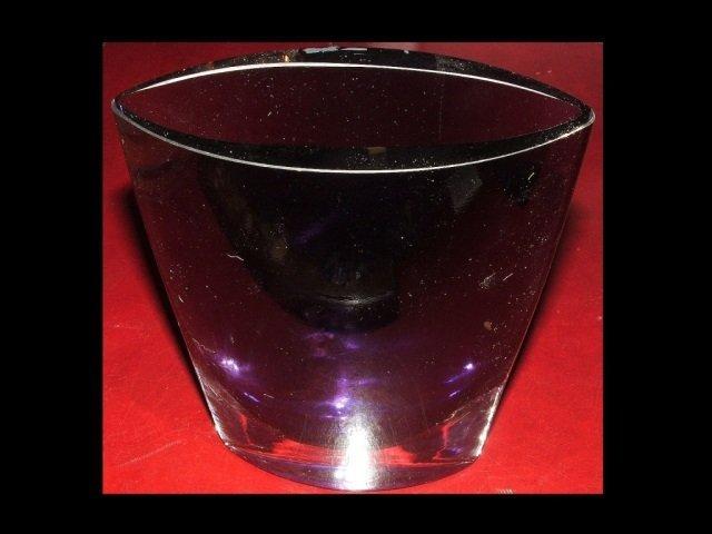 Midcentury Purple Art Glass Vase