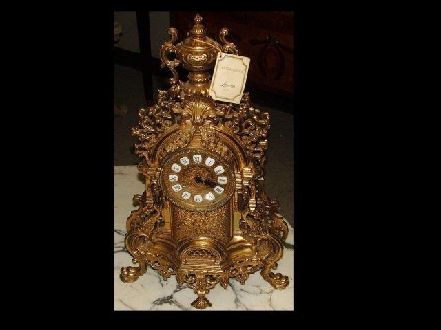 Vintage Italian Lancini Brass Mantle Clock