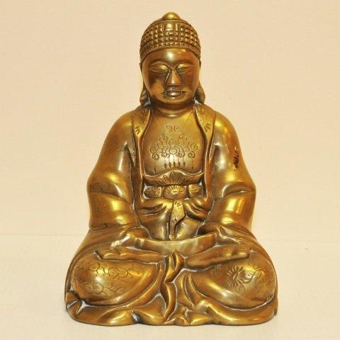 Vintage Cast Bronze Buddha