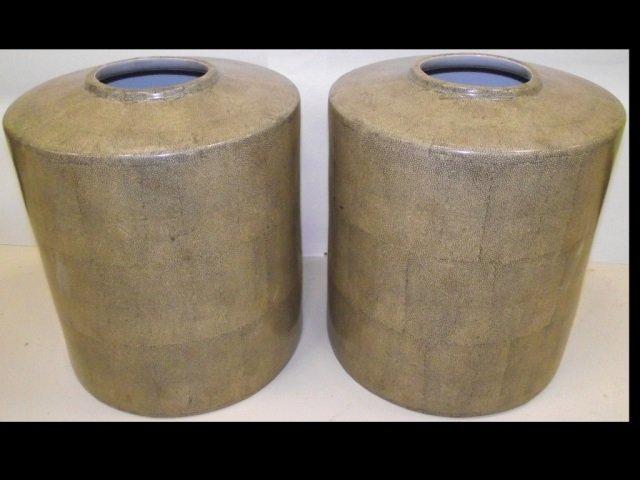 Pair of Midcentury Ceramic Vases
