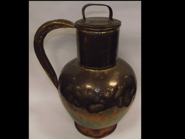 18th Century Large Copper and Bronze Urn/Kettle
