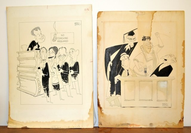 2 George Wachsteter Drawings- India Ink on Board