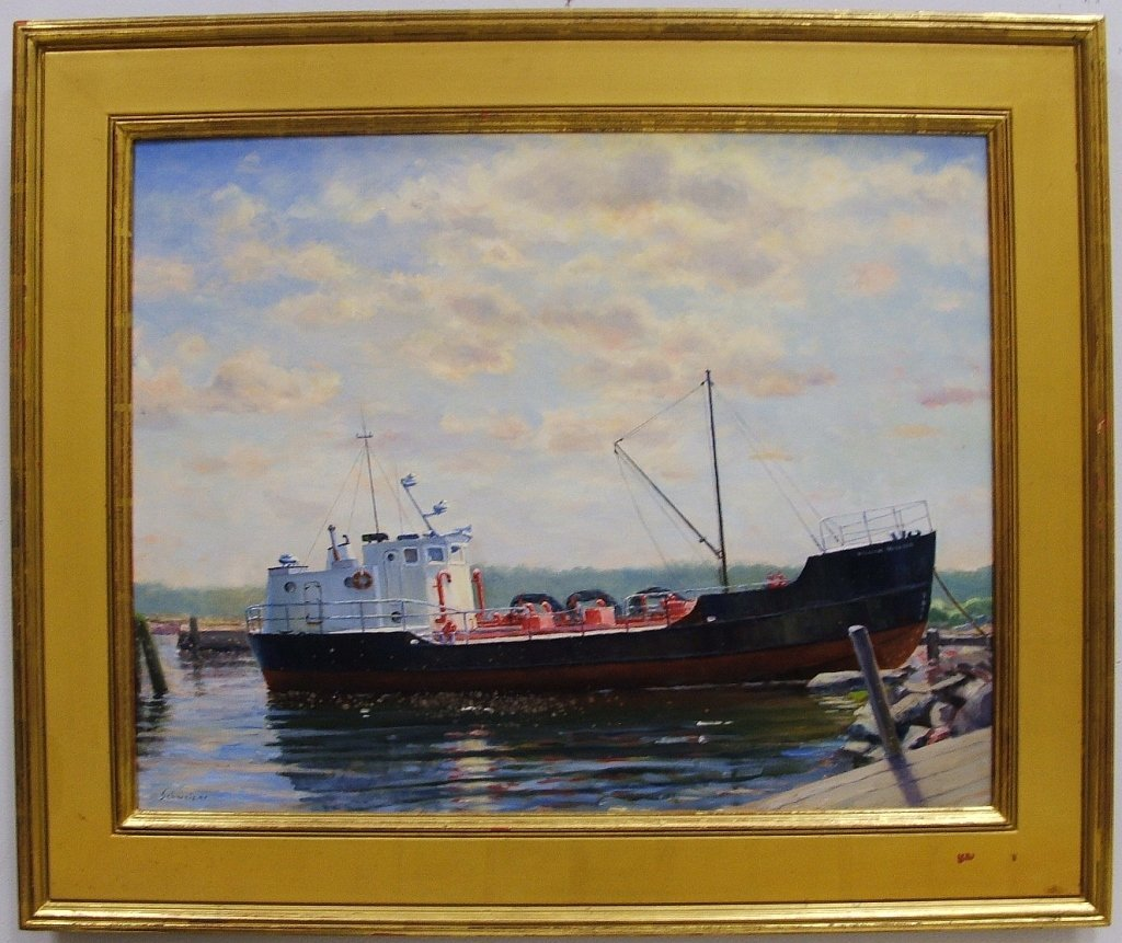 Schweizer Oil/Canvas- William McLloon Fishing Boat