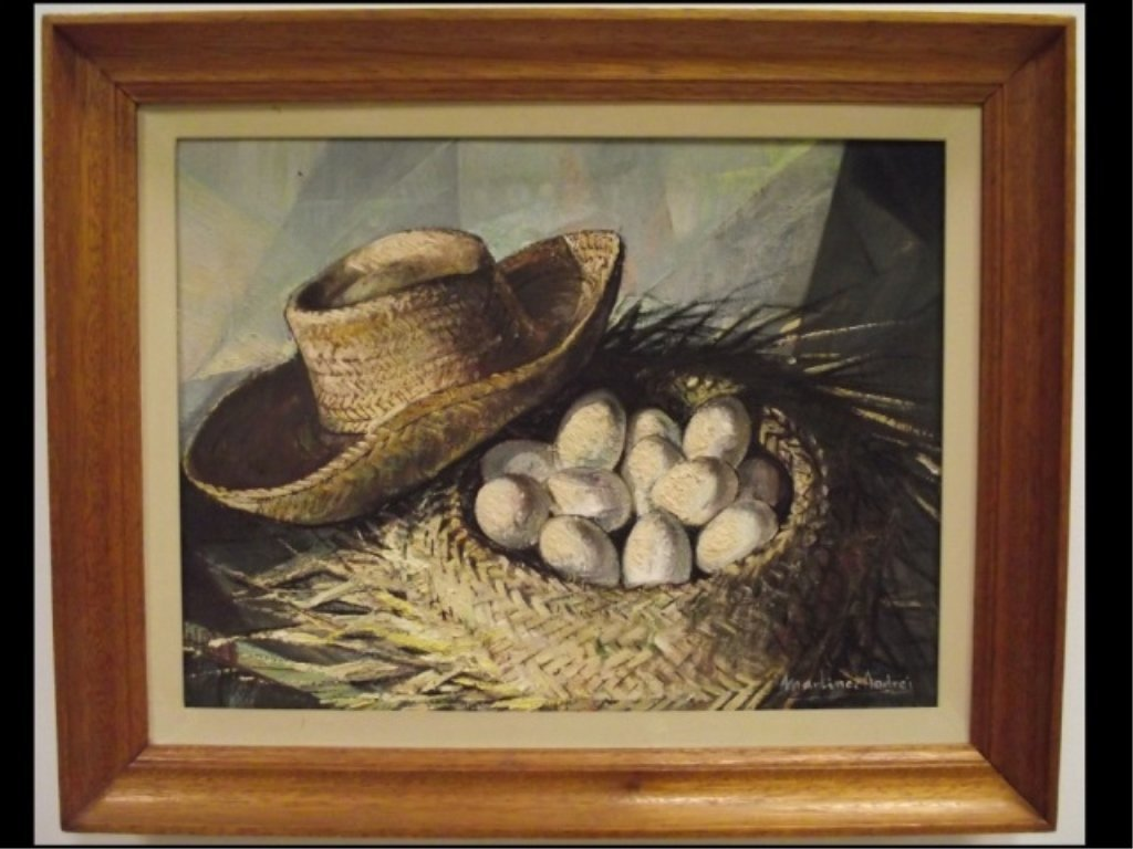 Still Life w/Basket of Eggs- Martinez Andres- O/C