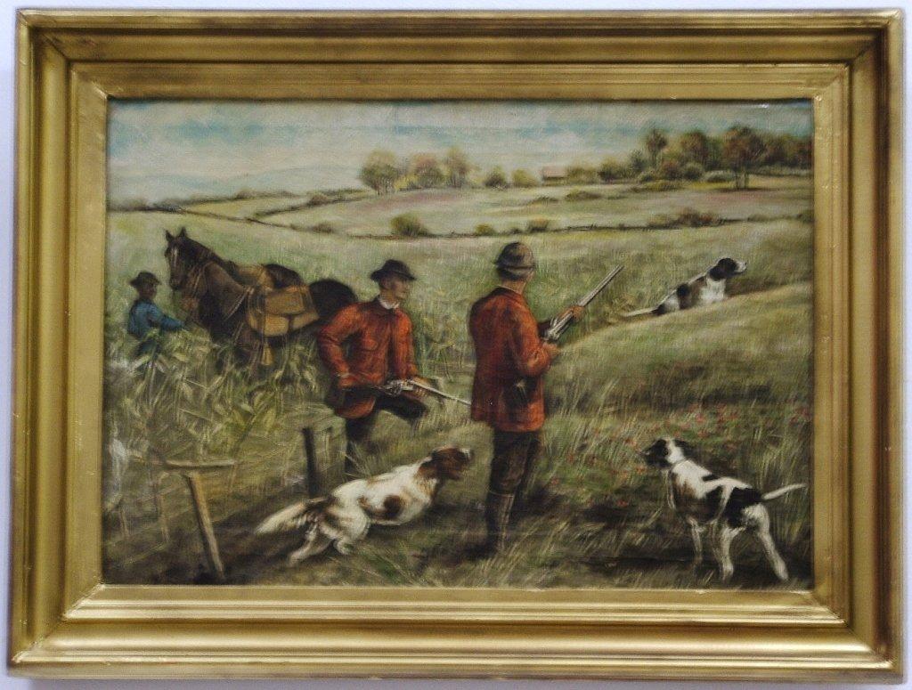 Arthur Burdett Frost- Quail Hunt- Oil on Canvas