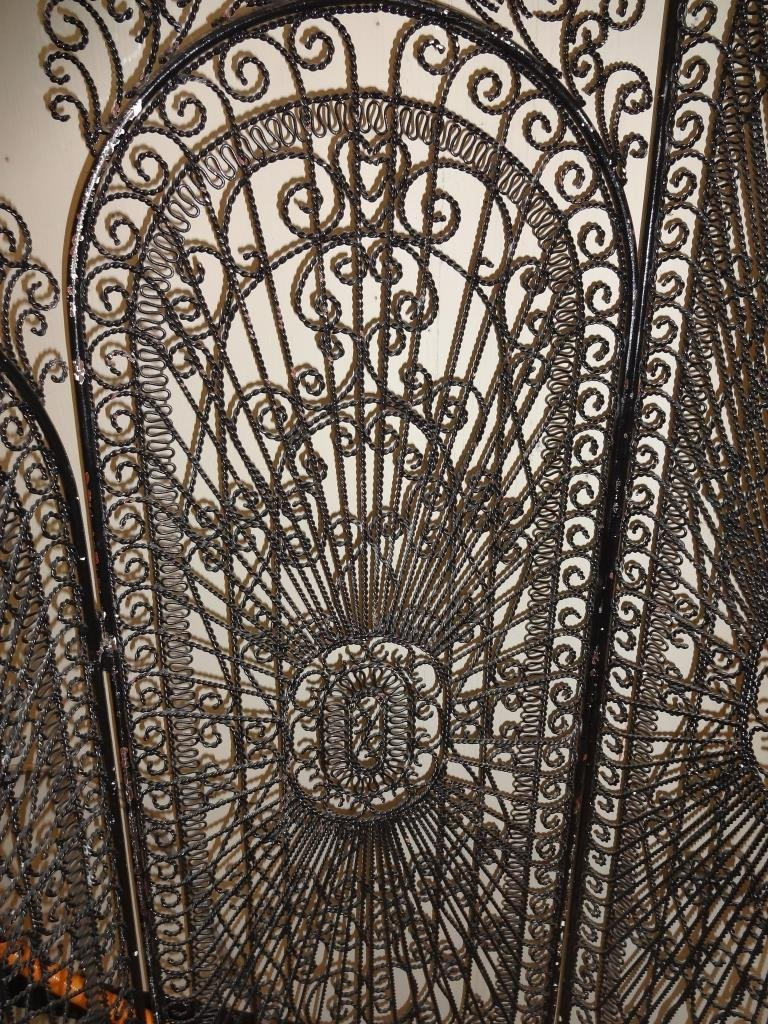 Antique Spanish Wrought Iron Room Divider Screen - 2