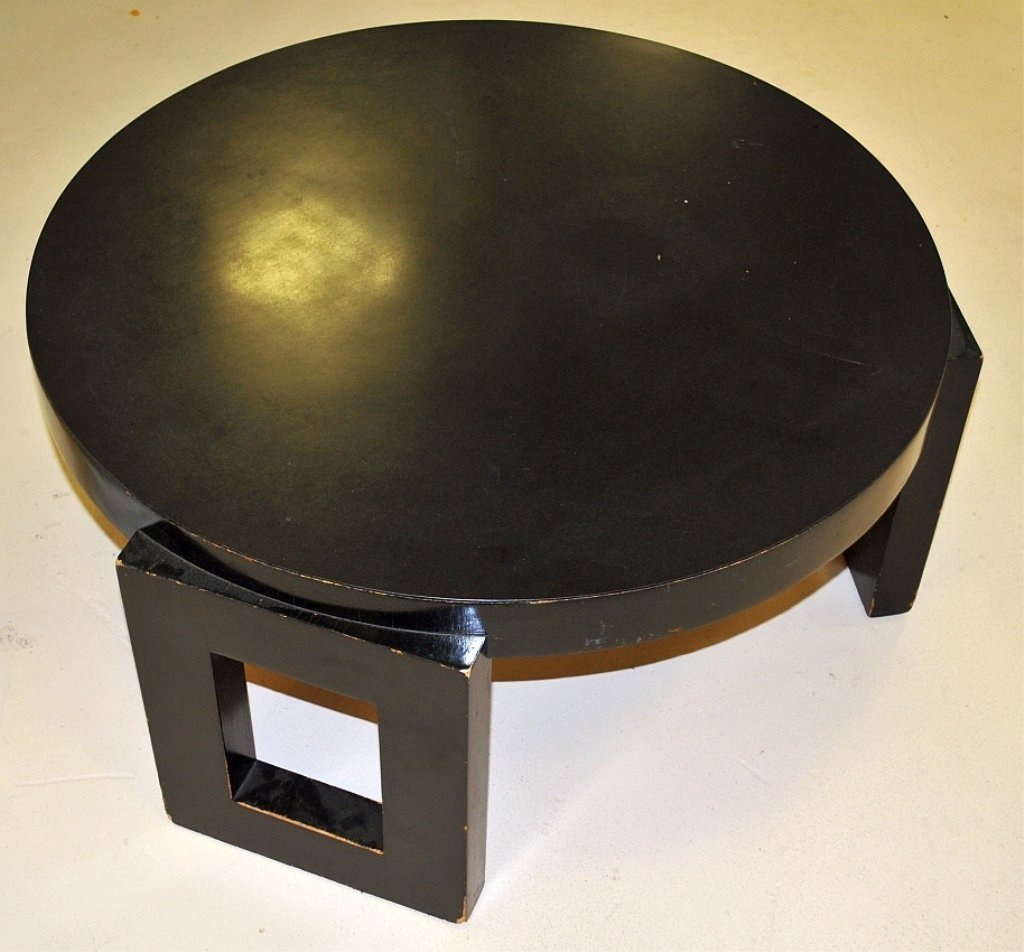 Vintage Circular Low Table Attributed-> James Mont