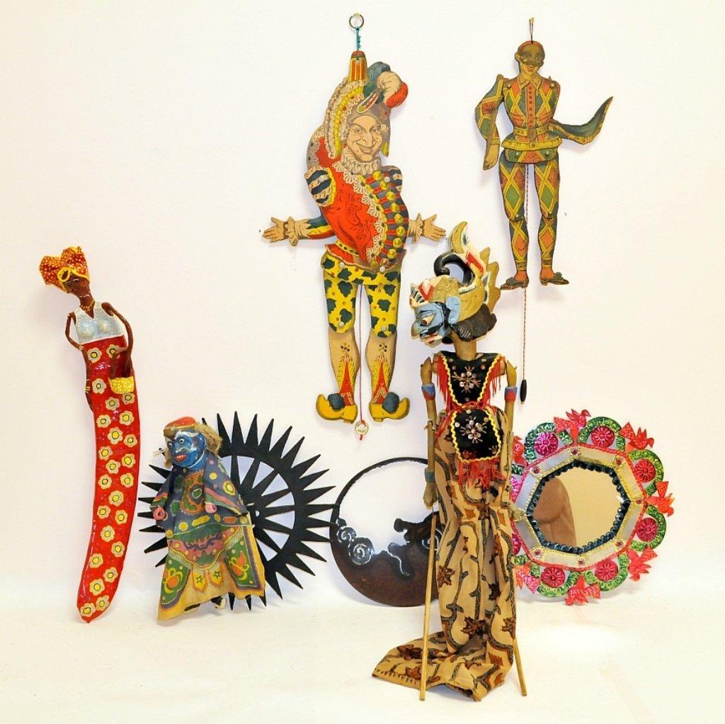 Lot of 8 Antique, Vintage Puppets & Marionettes