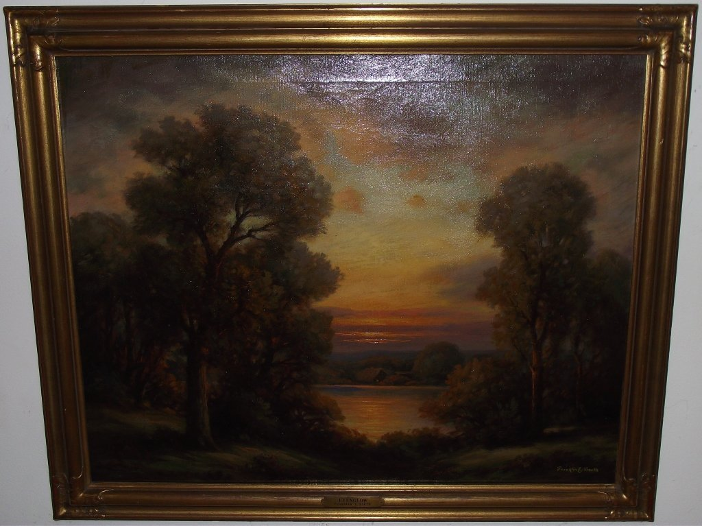 """""""Evenglow"""" by Franklin Booth- Oil on Canvas"""