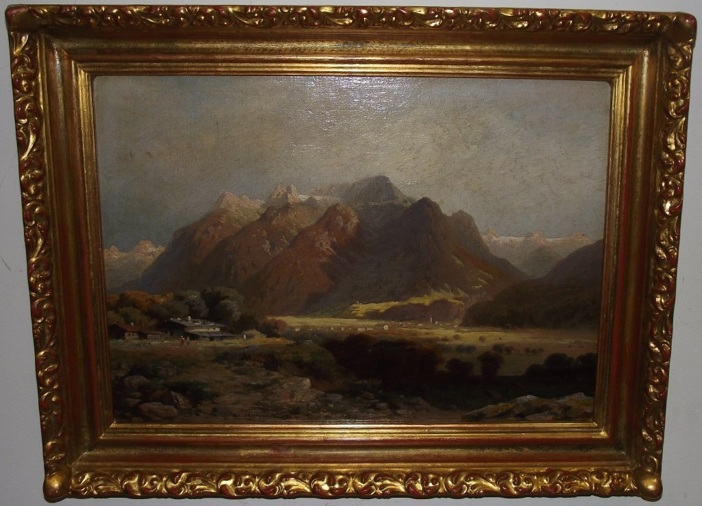 Landscape w/Mountains-Paul Heitinger-Oil/Masonite