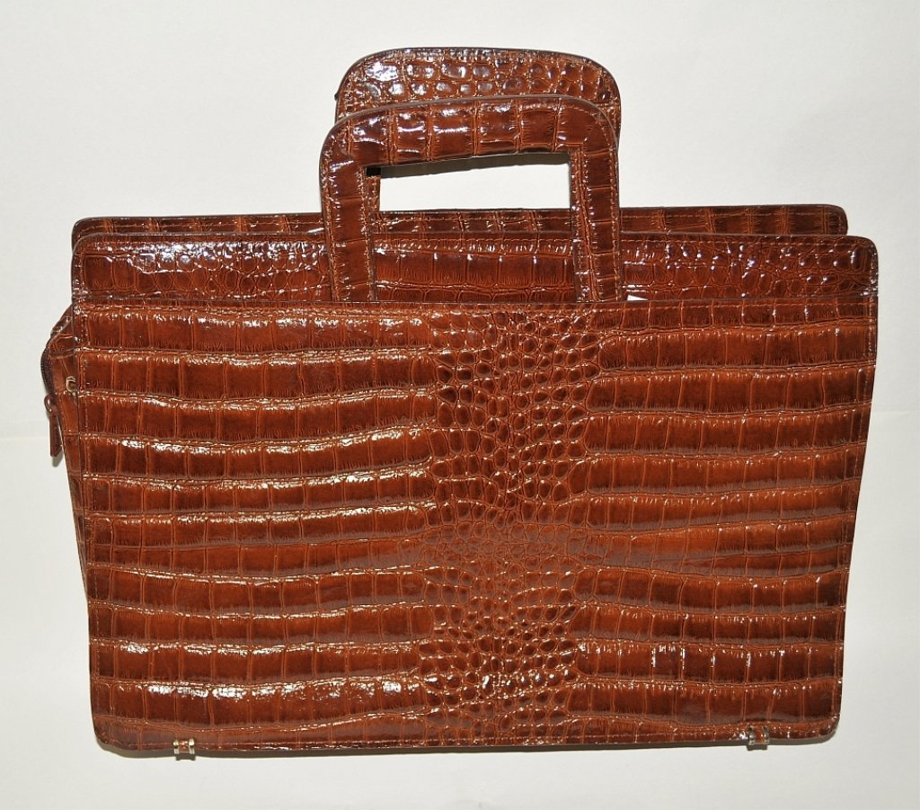 Vintage Alligator Skin Valise-Retractable Handles