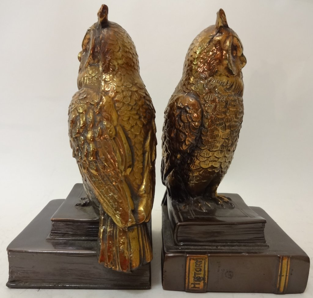 Art Deco Owl Bookends