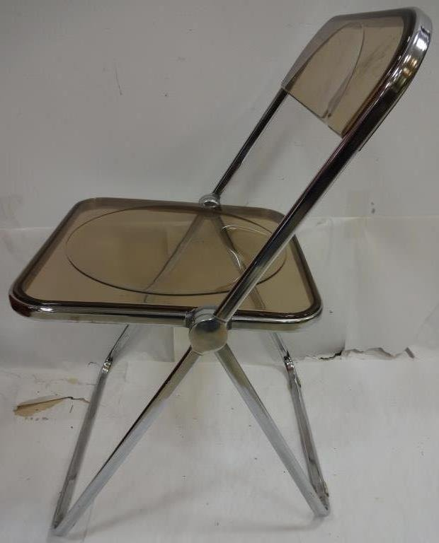 6 Vintage Lucite and Chrome Folding Chairs - 2