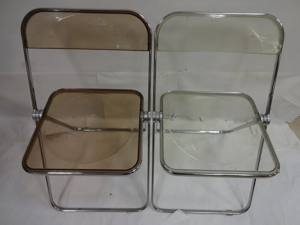 6 Vintage Lucite and Chrome Folding Chairs - 3